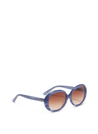 Figure View - Click To Enlarge - Sons+Daughters Eyewear - 'Jackie' kids stripe acetate round sunglasses