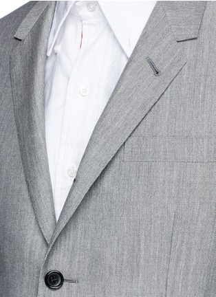 Detail View - Click To Enlarge - Thom Browne - Wool-Mohair blend blazer