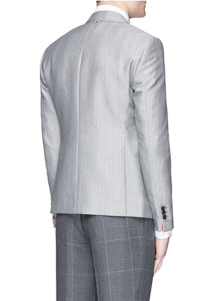 Back View - Click To Enlarge - Thom Browne - Wool-Mohair blend blazer
