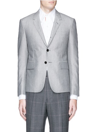 Main View - Click To Enlarge - Thom Browne - Wool-Mohair blend blazer