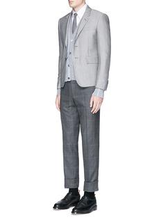 Thom BrowneWool-Mohair blend blazer