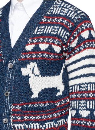 Thom Browne-'Hector' wool-Mohair Fair Isle cardigan