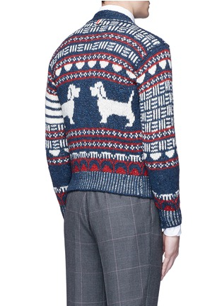Back View - Click To Enlarge - Thom Browne - 'Hector' wool-Mohair Fair Isle cardigan