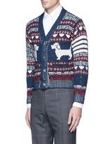 'Hector' wool-Mohair Fair Isle cardigan