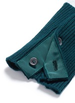 Colourblock stripe cashmere cropped cardigan