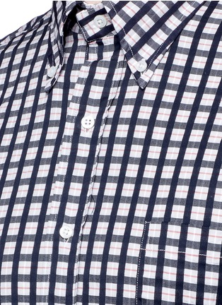 Detail View - Click To Enlarge - Thom Browne - Buffalo check cotton dobby shirt