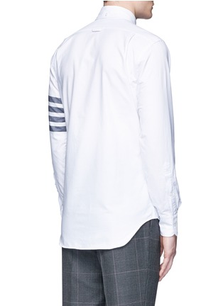 Back View - Click To Enlarge - Thom Browne - Stripe cotton Oxford shirt
