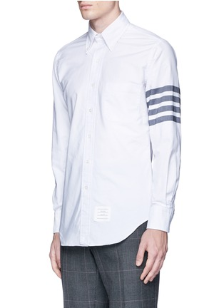 Front View - Click To Enlarge - Thom Browne - Stripe cotton Oxford shirt