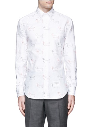 Main View - Click To Enlarge - Thom Browne - Hector' embroidery cotton Oxford shirt