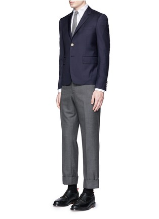 Figure View - Click To Enlarge - Thom Browne - Hector' embroidery cotton Oxford shirt