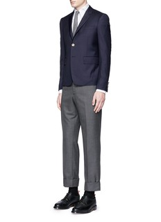 Thom Browne'Hector' embroidery cotton Oxford shirt