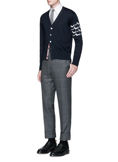 Thom Browne'Hector' sleeve embroidery Oxford shirt