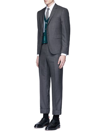 Figure View - Click To Enlarge - Thom Browne - Button down cotton Oxford shirt