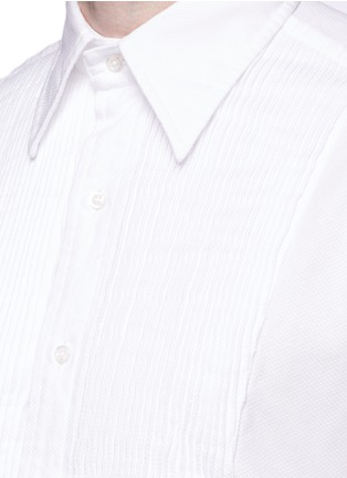 Detail View - Click To Enlarge - Thom Browne - Pleat bib cotton piqué tuxedo shirt