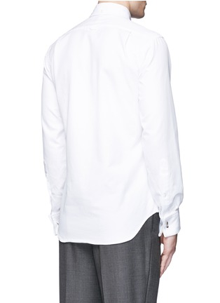 Back View - Click To Enlarge - Thom Browne - Pleat bib cotton piqué tuxedo shirt