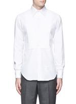 Pleat bib cotton piqué tuxedo shirt