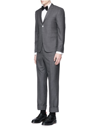 Figure View - Click To Enlarge - Thom Browne - Pleat bib cotton piqué tuxedo shirt