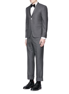 Thom Browne Pleat bib cotton piqué tuxedo shirt