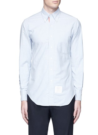 Main View - Click To Enlarge - Thom Browne - Button down cotton Oxford shirt