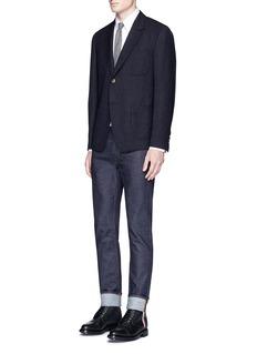 Thom BrowneWool blend bouclé blazer