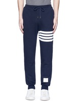 Stripe print cotton sweatpants