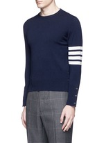 Stripe sleeve cashmere sweater
