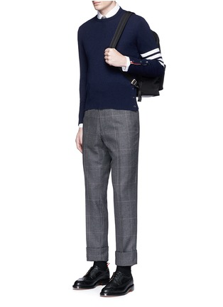 Thom Browne - Stripe sleeve cashmere sweater