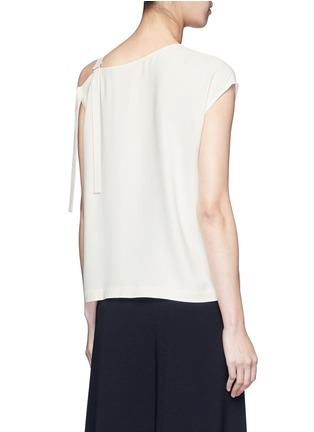 Back View - Click To Enlarge - Helmut Lang - Asymmetric strap one shoulder crepe top