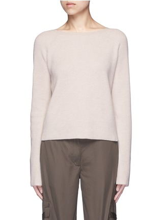 Main View - Click To Enlarge - Helmut Lang - Ribbon sleeve wool-cashmere ribbed sweater