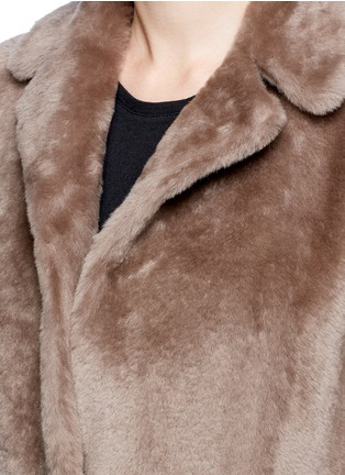 Detail View - Click To Enlarge - Helmut Lang - Reversible lambskin shearling coat