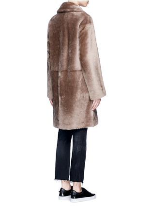 Back View - Click To Enlarge - Helmut Lang - Reversible lambskin shearling coat