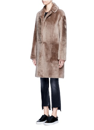 Front View - Click To Enlarge - Helmut Lang - Reversible lambskin shearling coat