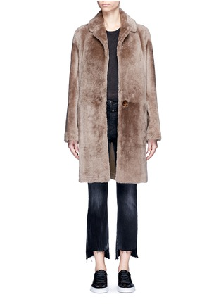 Main View - Click To Enlarge - Helmut Lang - Reversible lambskin shearling coat