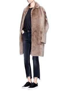Helmut LangReversible lambskin shearling coat