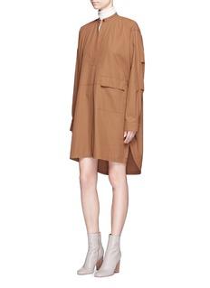 Helmut LangCotton twill parka shirt dress