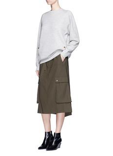 Helmut LangUtility pocket tie waist cotton twill skirt