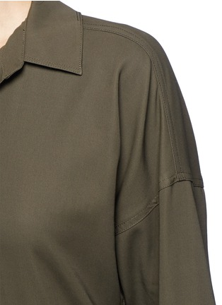 Detail View - Click To Enlarge - Helmut Lang - Asymmetric back hem belted shirt dress