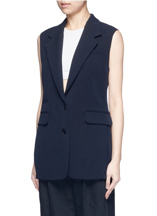 Front View - Click To Enlarge - Helmut Lang - Technical stretch suiting vest