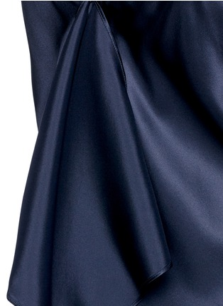 Detail View - Click To Enlarge - Helmut Lang - Drape back silk satin slip dress