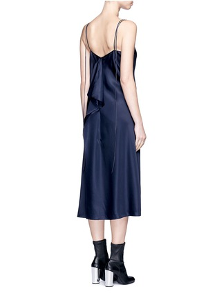 Back View - Click To Enlarge - Helmut Lang - Drape back silk satin slip dress
