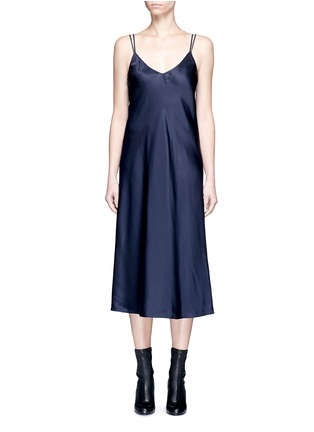 Main View - Click To Enlarge - Helmut Lang - Drape back silk satin slip dress