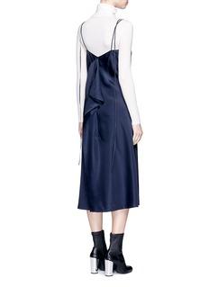 Helmut LangDrape back silk satin slip dress