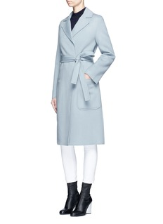 Helmut Lang Double face wool-cashmere belted coat