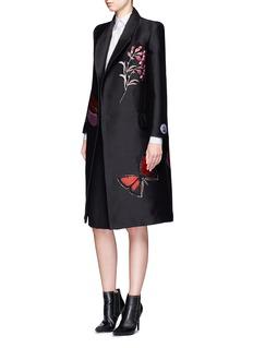 Alexander McQueen'Vanity Obsession' metallic jacquard silk blend coat