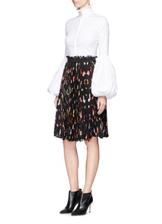 Alexander McQueen'Vanity Obsession' print plissé chiffon skirt