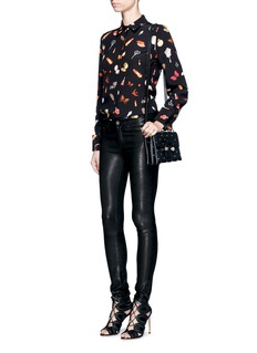 Alexander McQueen Obsession print crepe shirt