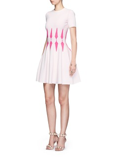Alexander McQueen Chevron arrow intarsia knit dress