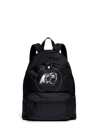 Main View - Click To Enlarge - Givenchy - 'Monkey Brothers' nylon backpack