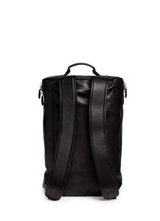 Back View - Click To Enlarge - Givenchy - Star print leather duffle backpack
