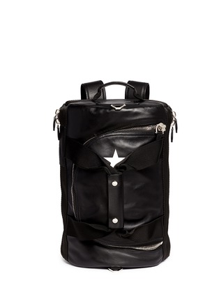 Main View - Click To Enlarge - Givenchy - Star print leather duffle backpack